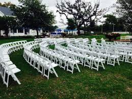 White Garden Chairs At The Pensacola Yacht Club