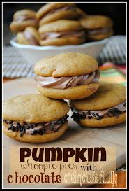 Pumpkin Whoopie Pies With Maple Spice Filling by Pumpkin Whoopie Pies With Chocolate Cream Cheese Filling Shugary