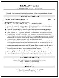 Social Employee Resume Samples Free