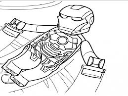 Lego Superheroes Coloring Pages Iron Man Best Page Site Dami8