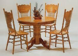 Wooden table chair designs An Interior Design Oak Round Kitchen