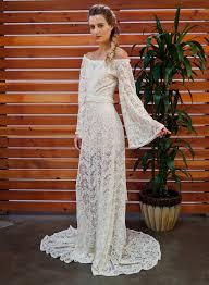 Sydnie Off Shoulder Rustic Bohemian Wedding Dress BOHO