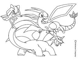 Kirlia Flygon And Salamence Pokemon Coloring Page Color Online Print