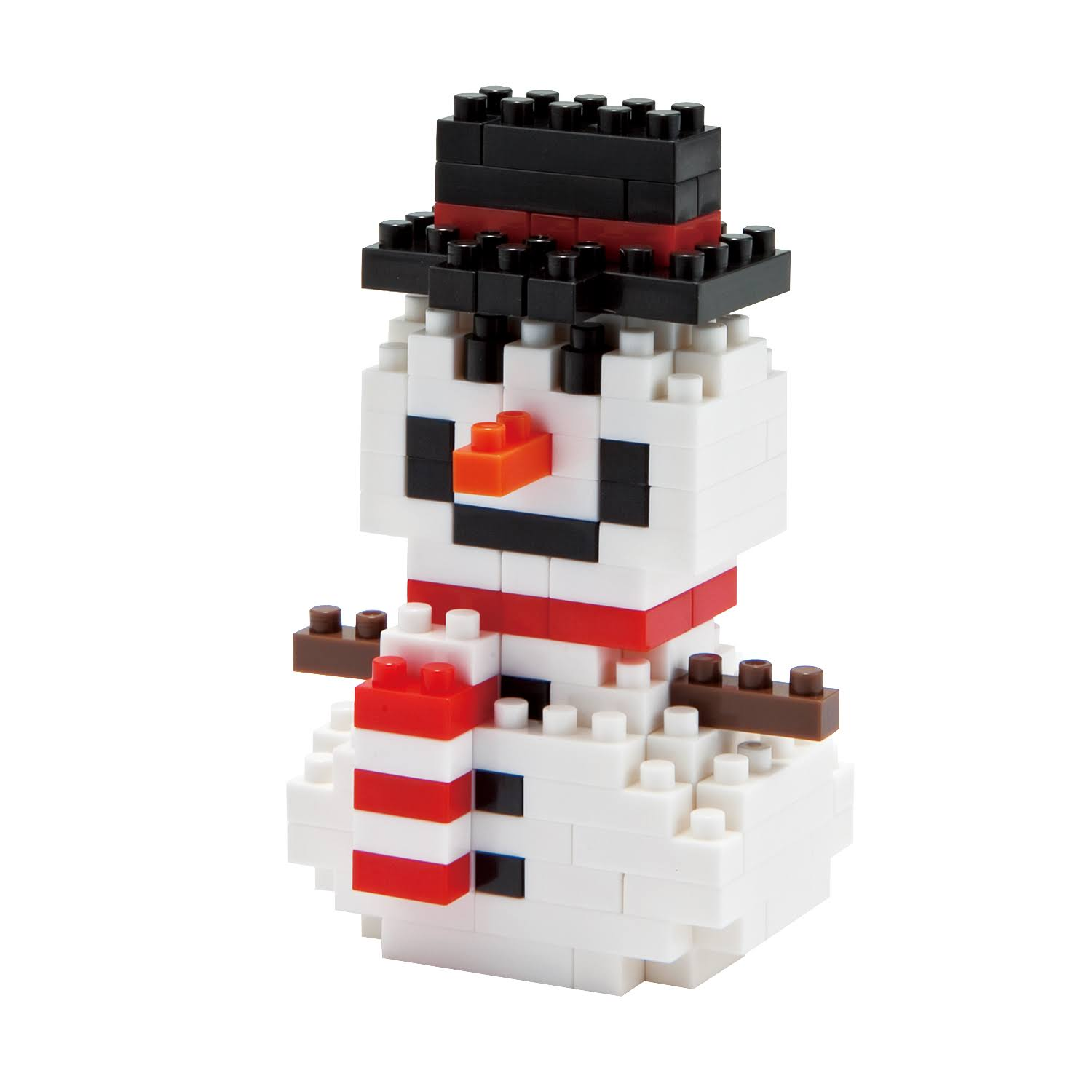 Nano Block Snowman Building Kit - White