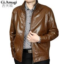 popular brown leather jackets men buy cheap brown leather jackets