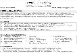 Retail Supervisor Resume Regular Management Cv Examples Uk Shankla By Paves Kw A27801