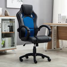 belleze racing high back office chair pu leather computer desk