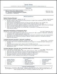 Mba Candidate Resume Sample Resumes