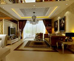 Luxury Brown Theme Modern Classic Living Room Interior Decorating With Traditional French Furniture Elegant Window Treatment