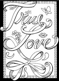 Abstract Heart Coloring Pages