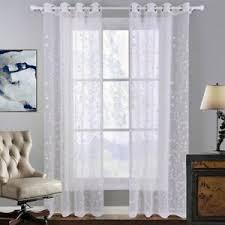 gardine vorhang weiß blume blümchen voile ösen schlaf