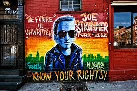 Joe Strummer Mural Nyc Address by Punk Rock Unruly Hearts