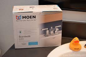 tutorial how to install the moen boardwalk centerset bathroom