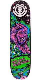 nyjah huston neon twig skateboard deck 7 7