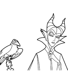 Disney Villains Coloring Pages Maleficent Download Villain Character