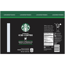 Starbucks Unsweetened Iced Coffee 48 Fl Oz