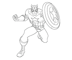Captain America Printable Coloring Pages For Free Pics Of Marvel Comics
