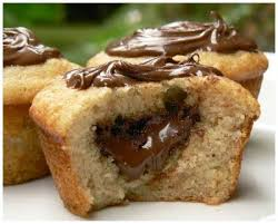 dessert rapide chocolat banane recette muffins banane coeur nutella 750g