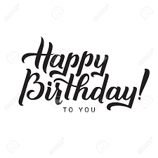 Typeface clipart happy birthday Pencil and in color typeface