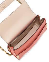 chloé elle clutch bag with shoulder strap in pink lyst