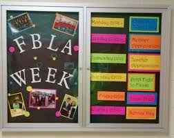FBLA Bulletin Board For 2014 2015 Week It Lists The Days Of