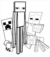 Minecraft Creeper Coloring Page Pages R Face Mutant