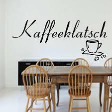 wandtattoo küche kaffeeklatsch kaffee esszimmer wand