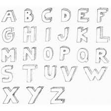 How to Draw 3D Bubble Letters Polyvore lettering Pinterest