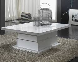 table basse laque blanc design table basse bois chene objets