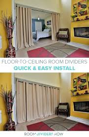ceiling room dividers hang curtain rod from ceiling for room