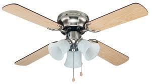 42 Ceiling Fan With Light Kit by Cool Breeze Eb52038 42in Brushed Nickel Ceiling Fan