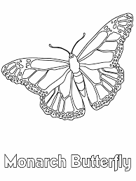 Monarch Butterfly Coloring Book Page