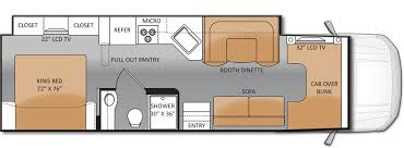 Jayco Class C Motorhome Floor Plans by The 33sw Is The New Super C Rv Floor Plan From Thor Motor Coach