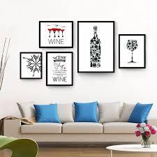haochu wein flasche tasse schwarz malerei moderne leinwand hintergrund design kunstdruck wand wohnzimmer esszimmer restaurant korridor decor