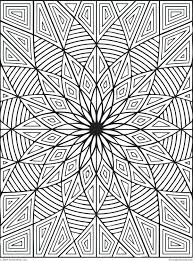 Cool Geometric Design Coloring Pages Animals Online Difficult Rectangles Page Full Size