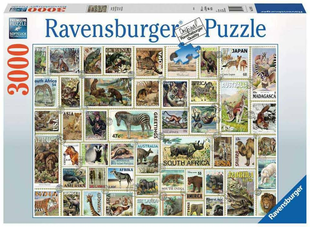 Ravensburger Animal Stamps Jigsaw Puzzle, 3000 Pieces