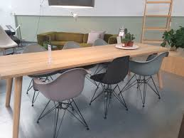 eames chairs in colours mauve grey basalt and moss grey