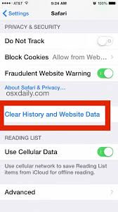 Clear History Cache and Cookies from Safari Browser on iPhone & iPad