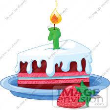 Dessert clipart birthday cake slice 10