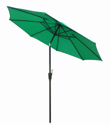 March ECO908D709P31 Steel Patio Umbrella - 9', Green