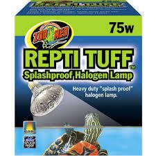 Reptile Heat Lamps Safety by Zoo Med Turtle Tuff Splashproof Halogen Lamp 75 Watts Petco