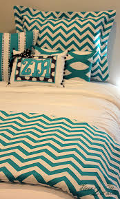 Walmart Chevron Bedding by Turquoise Chevron Designer Dorm Room Bedding Set Dorm Bedding
