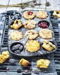 cheesecake muffins mit heidelbeeren