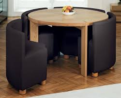 Perfect Sample Dining Room Furniture Sets For Small Space Round Shape Wooden Great Creativity Interior Collection