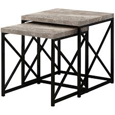 Neringa Nesting Tables (Set Of 2 - Taupe) Nesting Tables Set Of 2 Havsta Gray Josef Albers Tables 4 Pavilion Round Set Zib Gray Piece Oslo Retail 3 Modern Reflections In Blackgold Two Natural Pine And Grey Zoa Nesting Tables Set Of Lack Black White Contemporary Solid Wood Maitland Smith Faux Bamboo