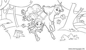 Nella The Princess Knight And Unicorn In Forest Coloring Pages