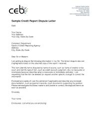 Dispute Credit Report Letter