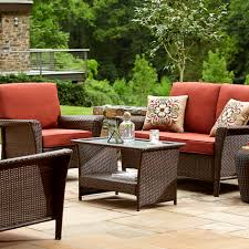 ty pennington style parkside deep seating set rust shop your