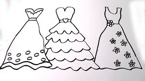 Coloring Pages Dresses How To Draw Beautiful Dress For Girls Videos Kids