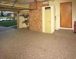 Before Its New Coat Of Epoxy Bonded Stone This Garage Floor Was Pitted